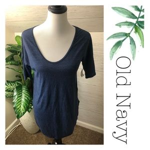 🌿 NWT Navy blue wide neck tunic top